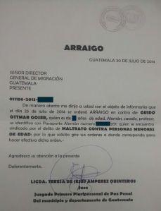 ARRAIGO PENAL GOESER