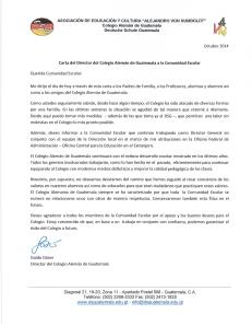 Carta del Director General