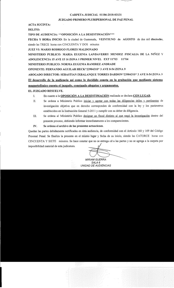 CON LUGAR OPOSICION TOCHA AGO 2018